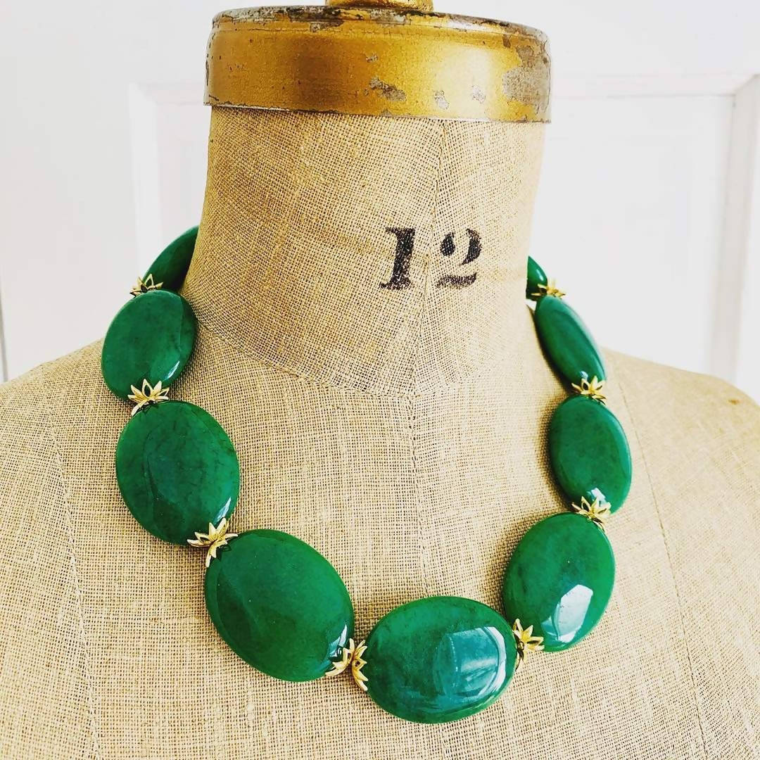 jade statement necklace