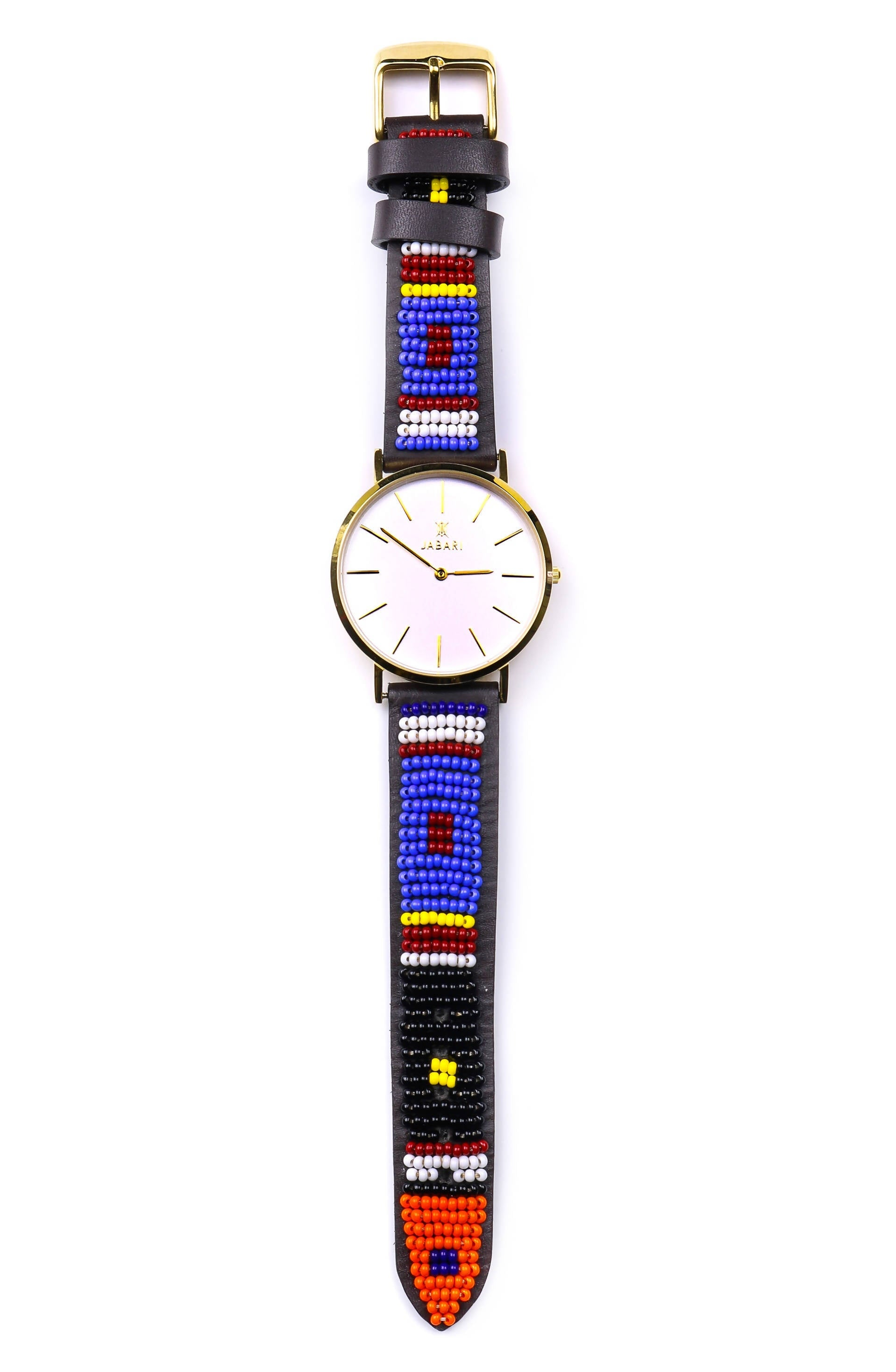 TAI | EAGLE - Beaded Leather Watch