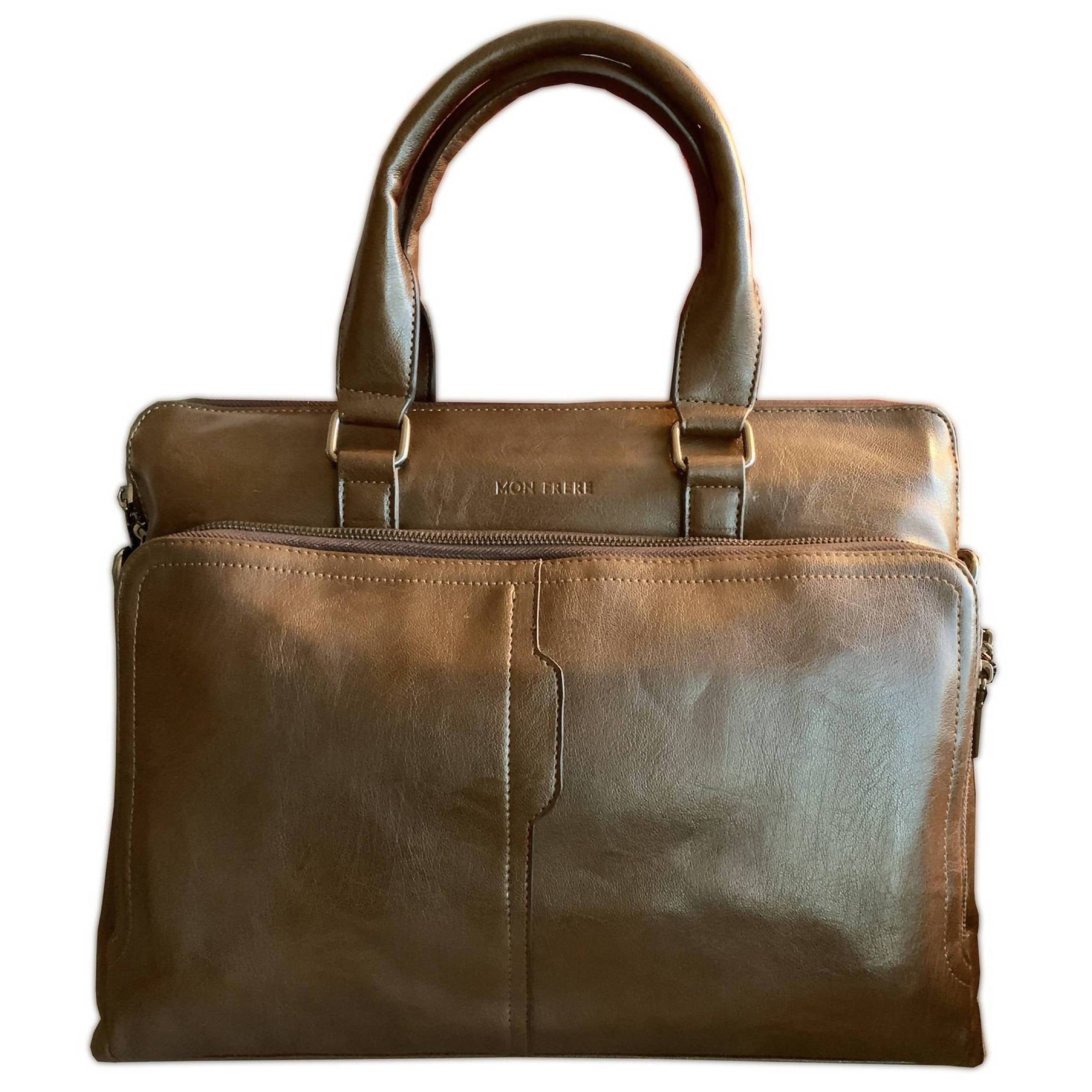 Men's Vegan Leather Briefcase