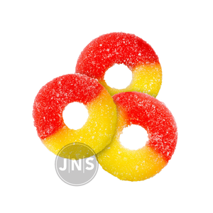 Hemp Gummies - Peach Rings | 250mg - 500mg - JNS Premium Brands - CBD Edibles Wholesale