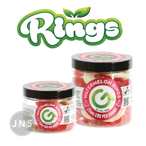 Hemp Gummies - Watermelon Rings - CBD Edibles Wholesale - JNS Premium Brands