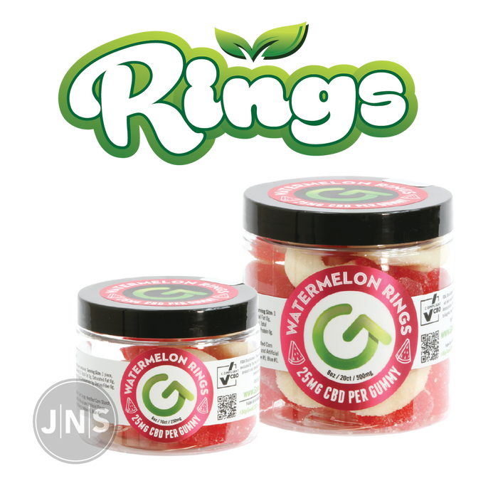 CBD Gummy Watermelon Rings | 250mg - 500mg