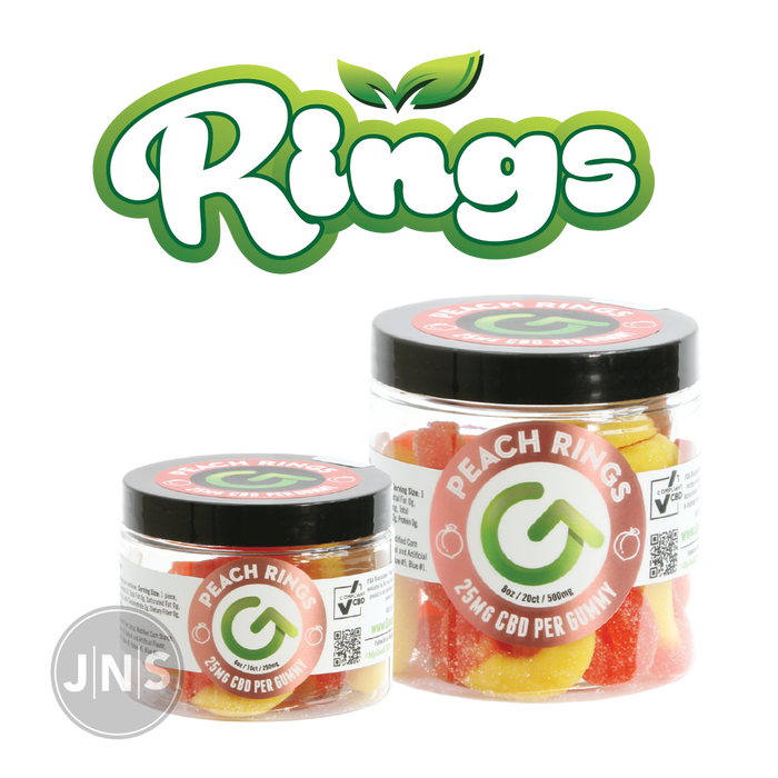 CBD Gummy Peach Rings | 250mg - 500mg