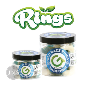 CBD Gummy Blue Raspberry Rings | 250mg - 500mg - JNS Premium Brands - CBD Edibles Wholesale