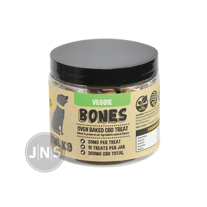 Hemp Dog Treats | Veggie Bones 300mg - wholesale CBD dog treats