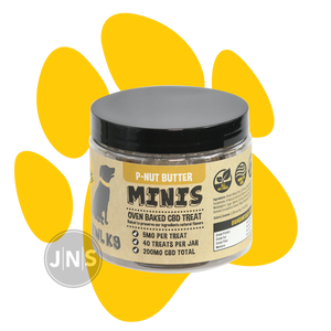 Hemp Dog Treats | P-Nut Butter Mini Bones 200mg - JNS Premium Brands - Wholesale CBD dog treats