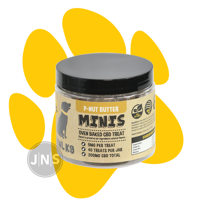 Hemp Dog Treats | P-Nut Butter Mini Bones 200mg