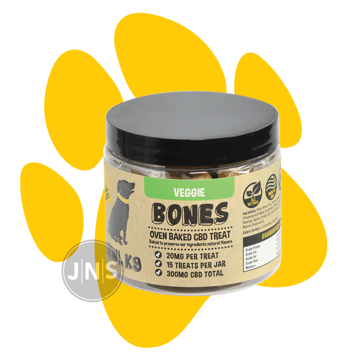 Hemp Dog Treats | Veggie Bones 300mg