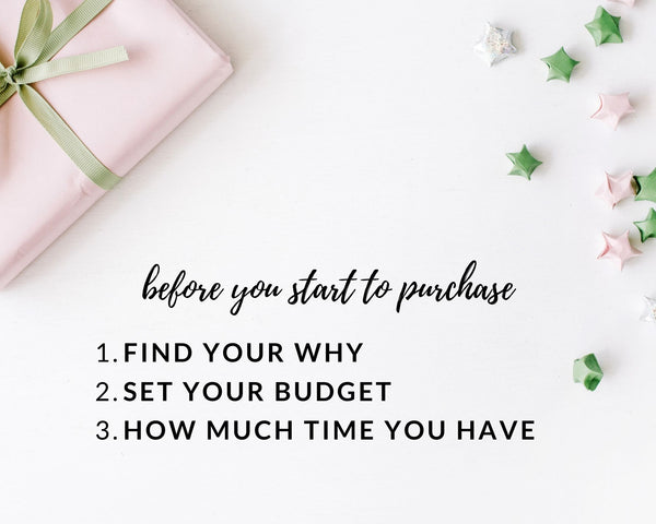 before buying a gift