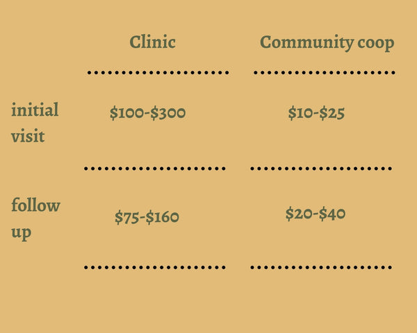 Community Acupuncture Cost