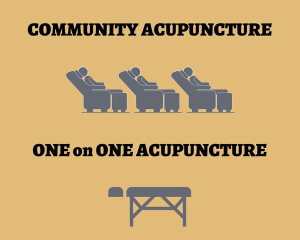 community acupuncture vs one on one acupuncture