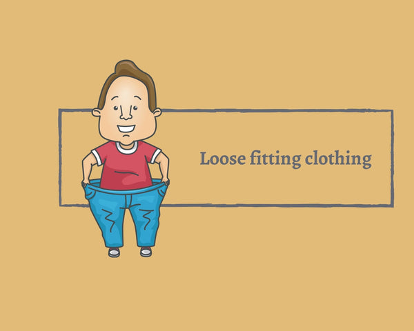 wearing loose fitting clothing for acupuncture