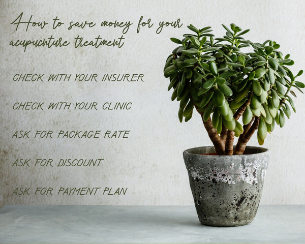 tips to spend less on our acupuncture treatment