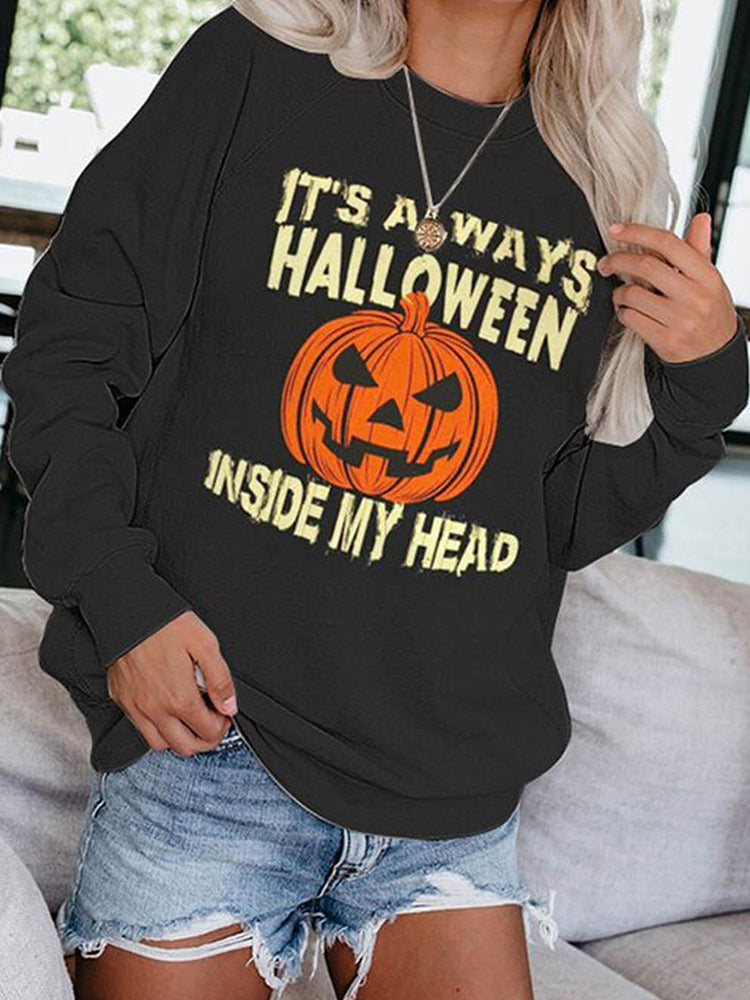 Halloween Slogan T-shirt-tops-Modabae