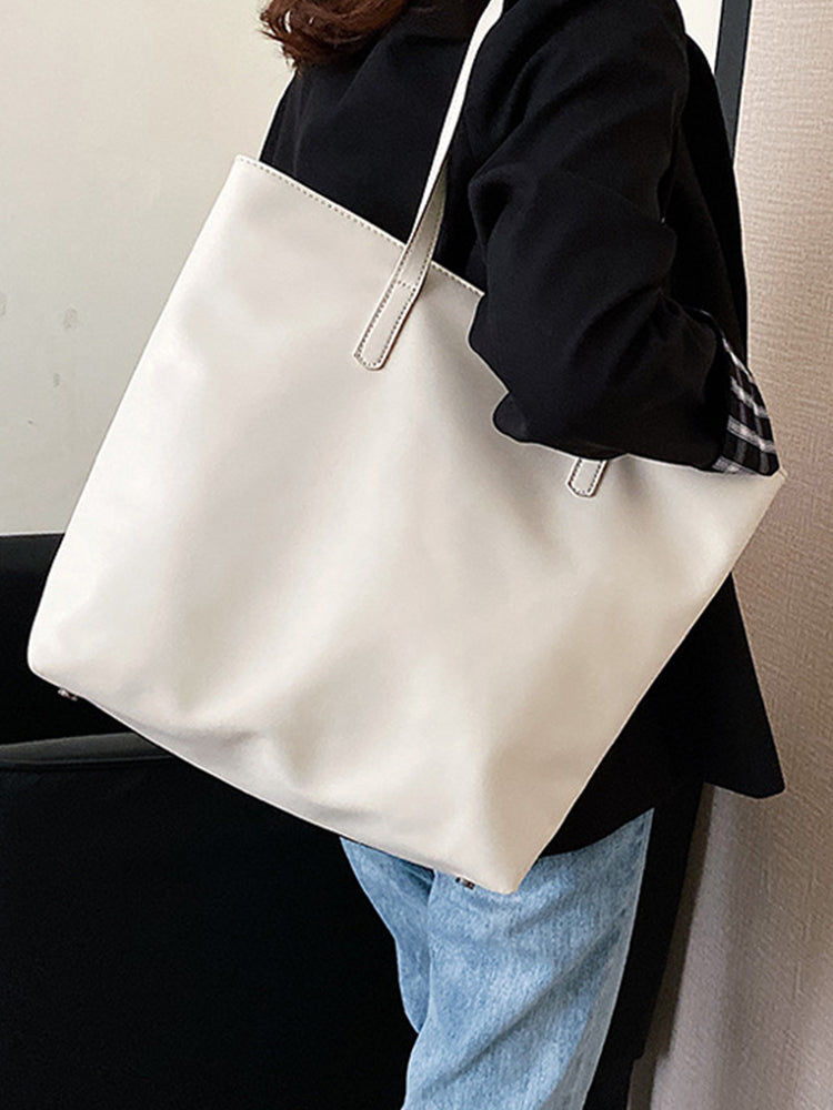 All-match Large-capacity Soft Leather Tote Bag-Accessories>Bags>Fashion-Modabae