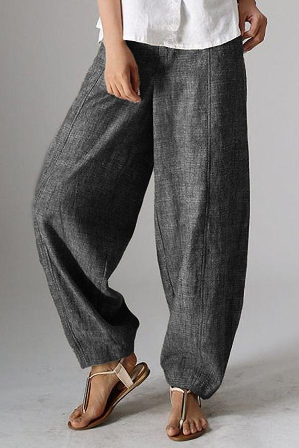 Casual Side Pockets Shift Pants-BOTTOMS-Modabae
