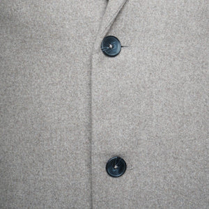 Harry Brown Oatmeal Wool Overcoat