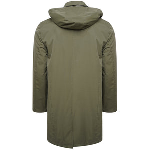 Harry Brown Khaki Hooded Rain Mac