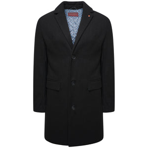 Harry Brown Black Wool Overcoat