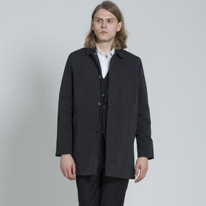Harry Brown Black Single Breasted Trench Coat