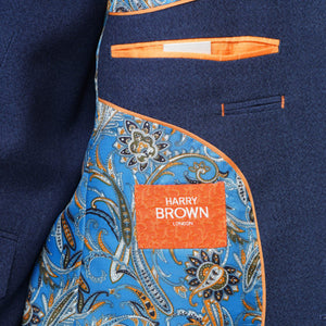 Harry brown Blue Three Piece Slim Fit Suit