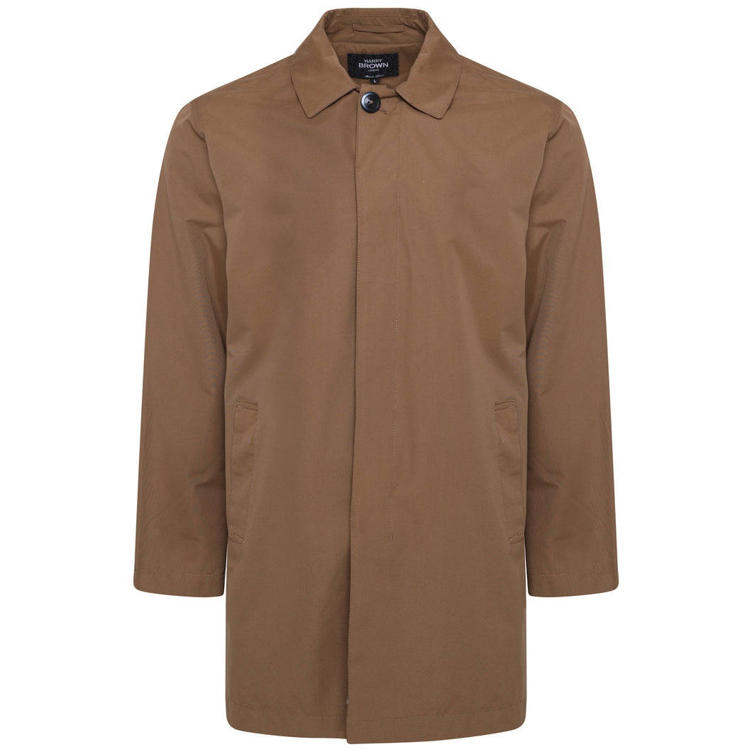 Harry Brown Mud Single Breasted Trench Coat