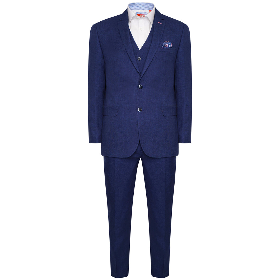 Harry Brown 3 Piece Slim Fit Suit in Dark Blue