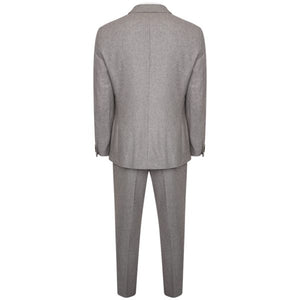 Harry Brown Three Piece Slim Fit Wool Suit in Grey