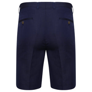 Farah Linen Viscose Blend Shorts in Navy