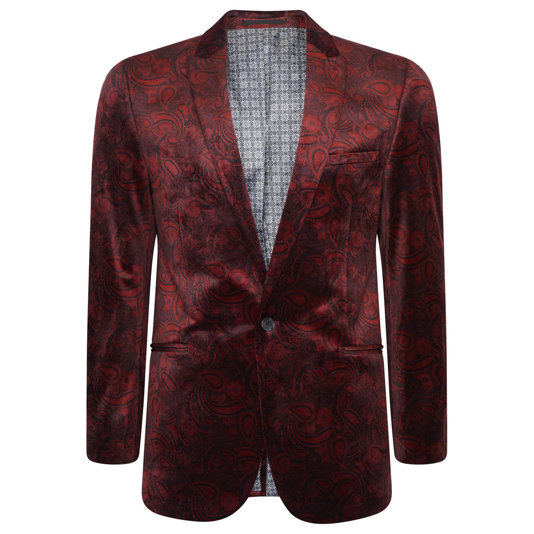 Harry Brown Party Blazer in Burgundy
