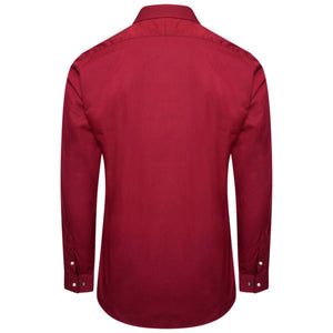 Harry Brown Cotton Shirt in Burgundy