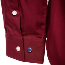 Load image into Gallery viewer, Harry Brown Cotton Shirt in Burgundy