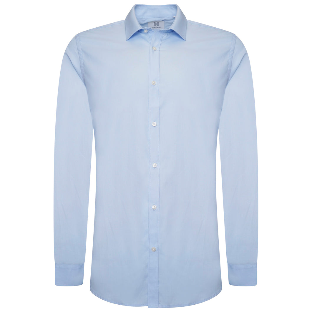 Harry Brown Cotton Shirt in Sky Blue