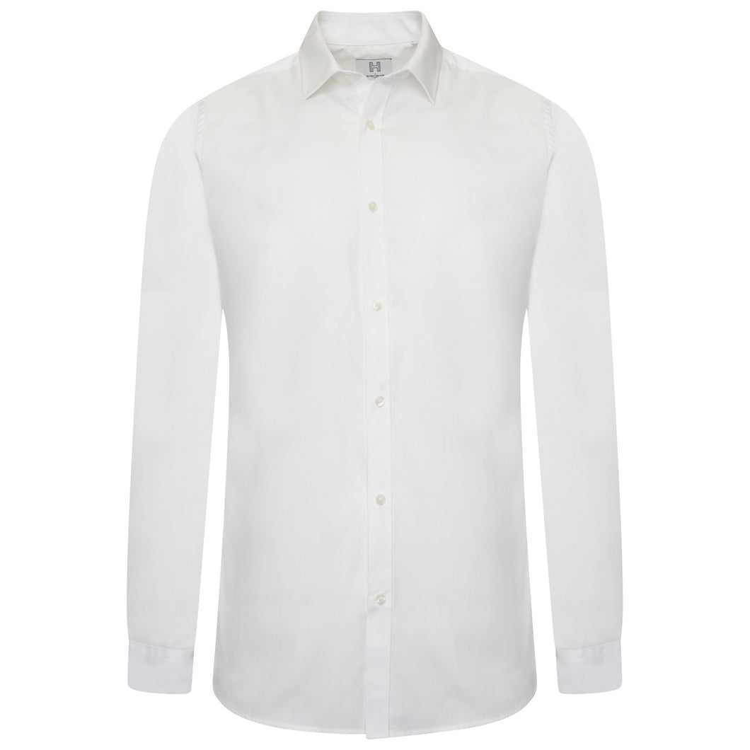 Harry Brown Cotton Shirt in White