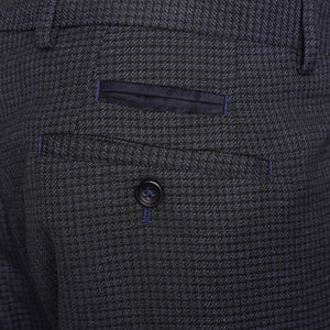 Penguin Trousers in Navy/Black Check