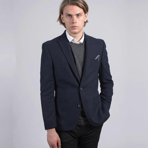 Sawyers + Hendricks Blue Slim Fit Wool Blend Blazer
