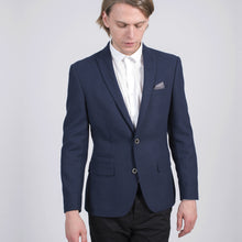 Load image into Gallery viewer, Sawyers + Hendricks Slim Wool Blue Blazer