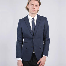 Load image into Gallery viewer, Harry Brown Blue Viscose Blend Tailored Blazer