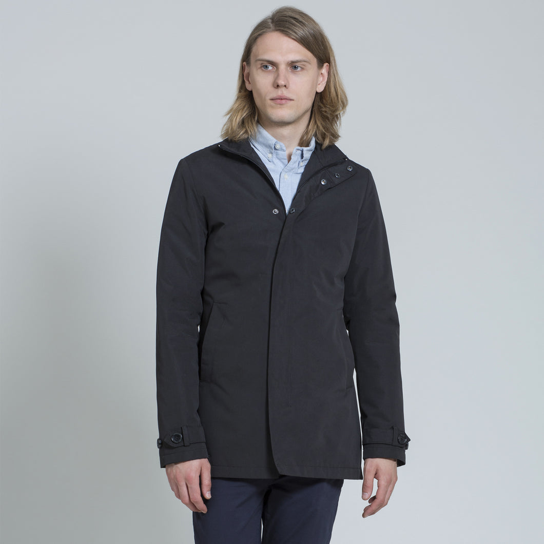 Carter & Jones Black Funnel Neck Mac