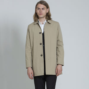 HARRY BROWN Stone Single Breasted Trench Coat