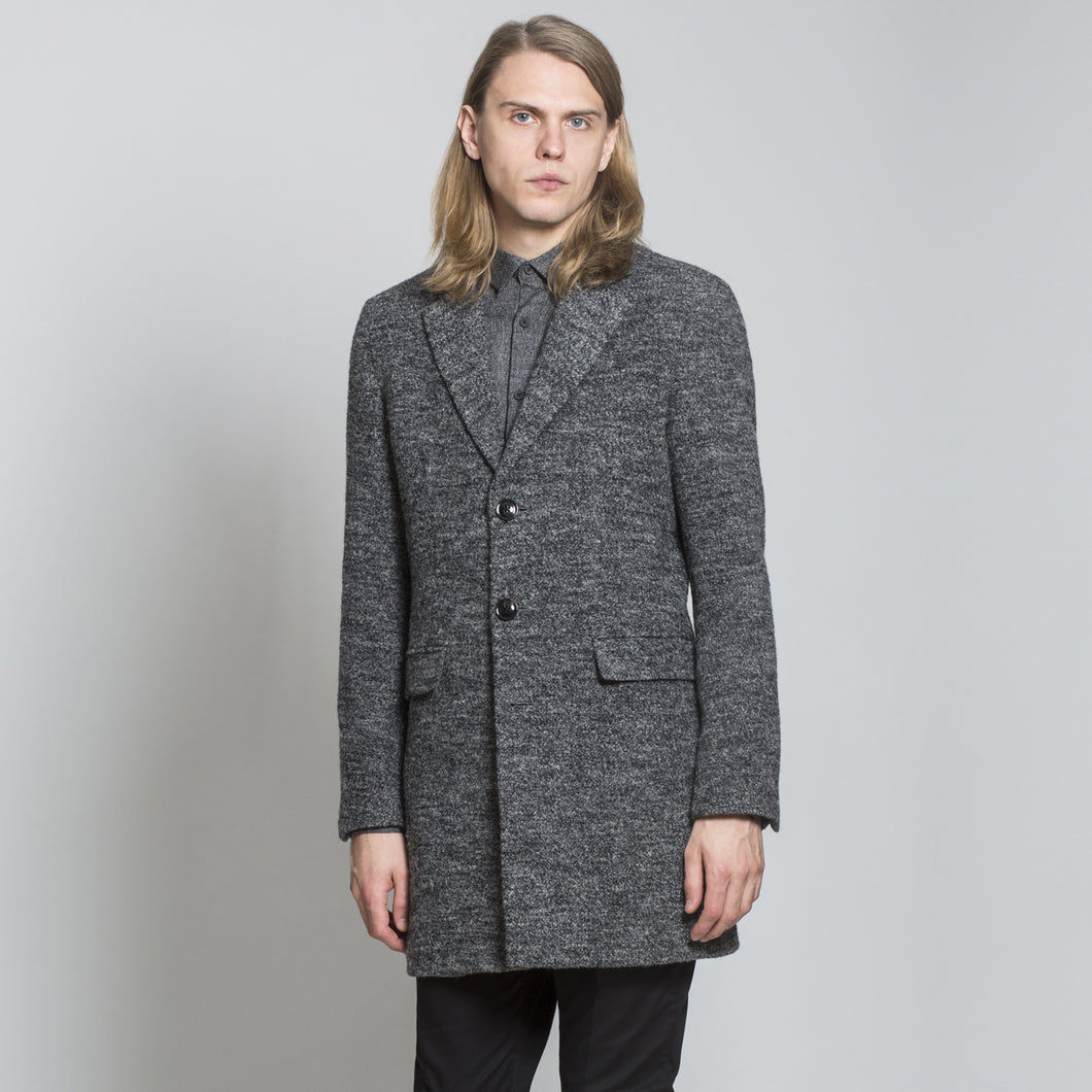 Sawyers + Hendricks Grey Wool Overcoat