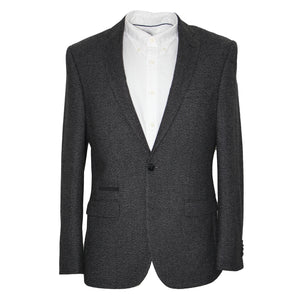 Harry Brown Charcoal Wool Blend Tailored Fit Blazer