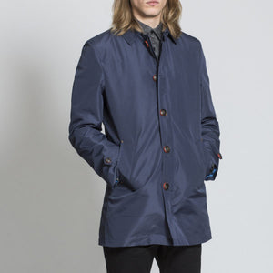 Harry brown Dark Blue Rain Mac with Detachable Lining