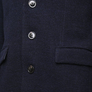 Sawyers + Hendricks Navy Wool Overcoat