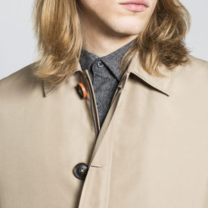 HARRY BROWN Toffee Rain Mac with Detachable Lining