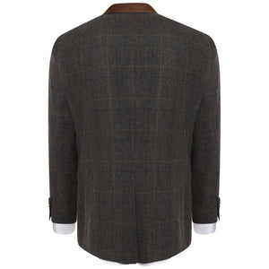 Harry Brown Brown Check Wool Blend Tailored Fit Blazer