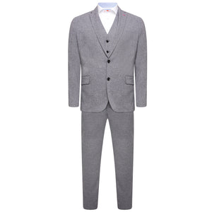 Harry Brown Grey Three Piece Slim Fit Suit