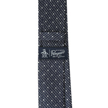 Load image into Gallery viewer, Penguin Silk Navy Spot Tie
