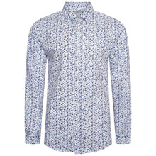 Load image into Gallery viewer, Harry Brown Ditsy Floral Slim Fit Shirt in Blue