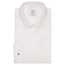 Load image into Gallery viewer, Harry Brown Pique Slim Fit Shirt in White